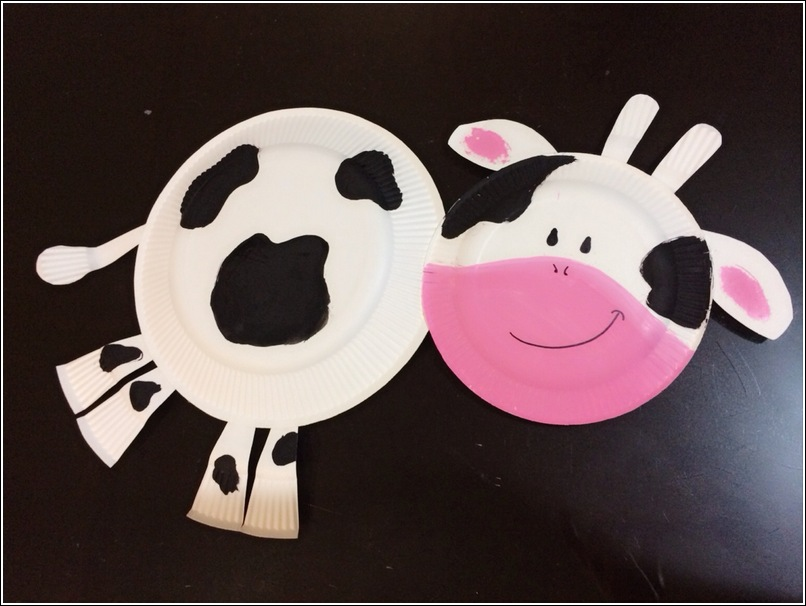 paper plate cow 3