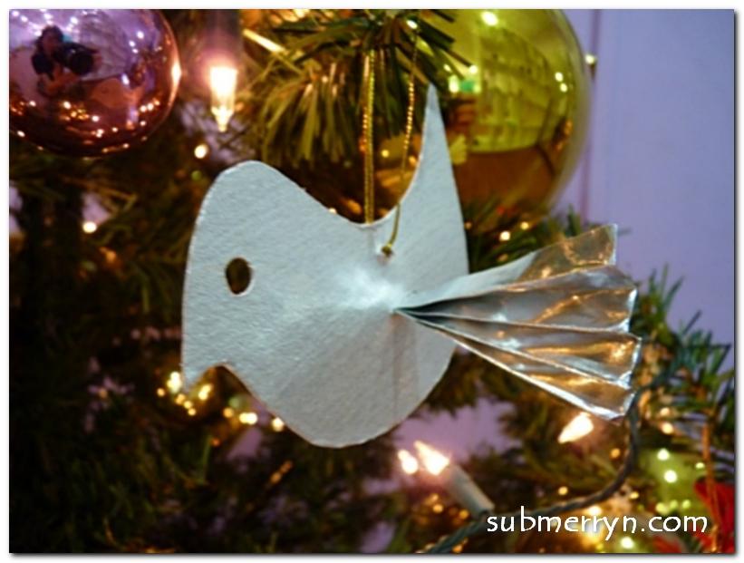 Silver Bird Christmas Tree Ornament