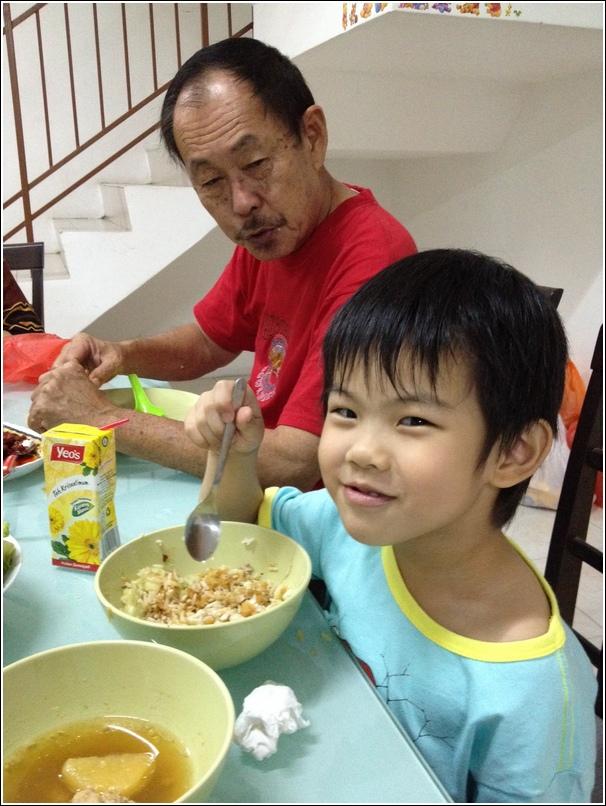 Ethan and grandpa