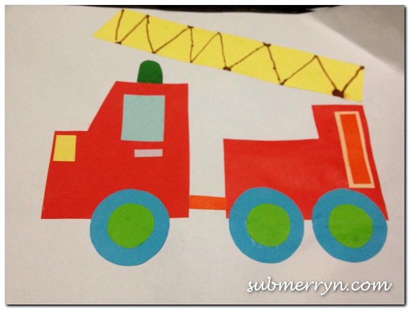 Cut and paste art n craft fireman