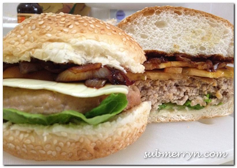 Homemade burger patty