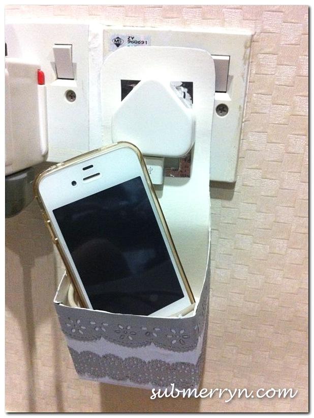 DIY Handphone Charger Holder_1