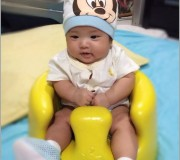 Ayden in bumbo floor seat