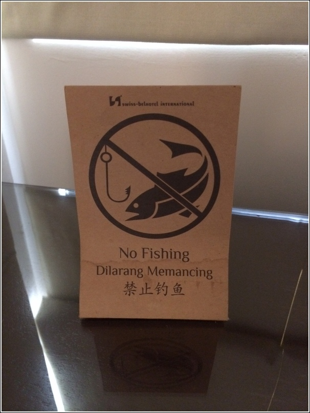 no fishing at golden palm tree