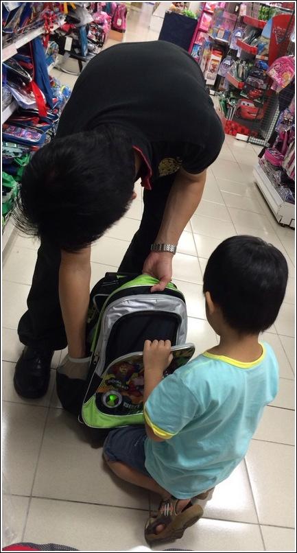 buying a school bag
