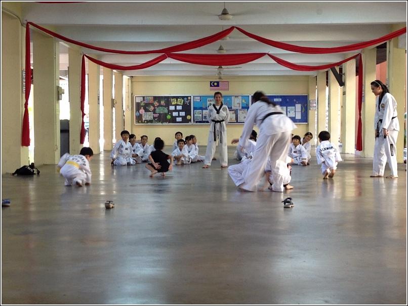 warm up for taekwondo