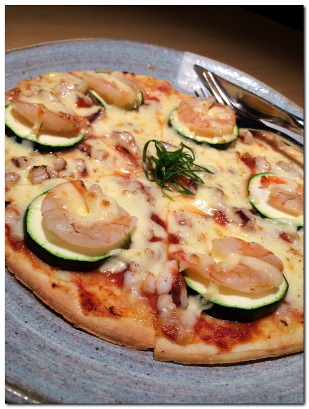 Hearts Of Palm, Shrimp And Cheese Pizza Recipe — Dishmaps