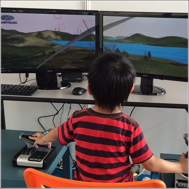 Subang International Air Carnival 2014_flight simulator