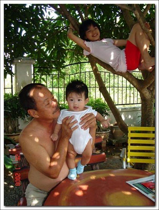 ethan under the mango tree