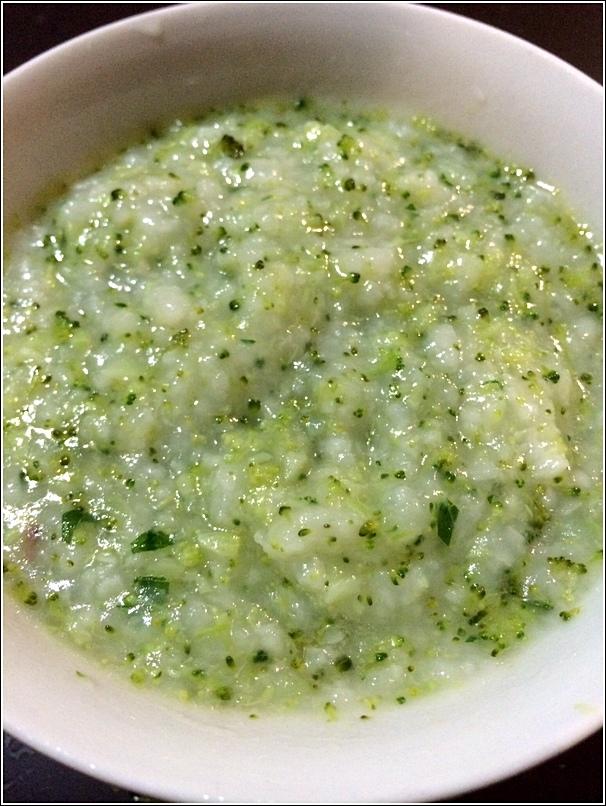 Green porridge for babies