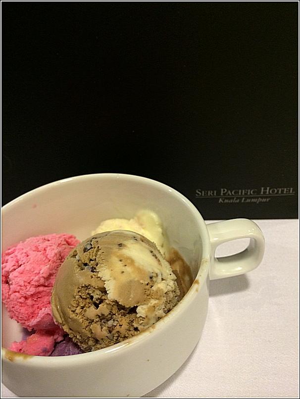 Japanese buffet at Kofuku Japanese Restaurant at Seri Pacific Hotel ice cream