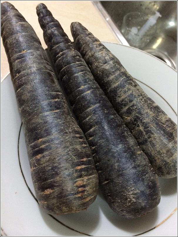 Purple carrot porridge