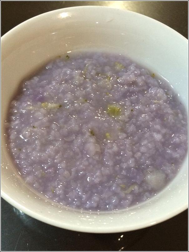 Purple porridge for babies