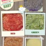 Rainbow porridge for babies