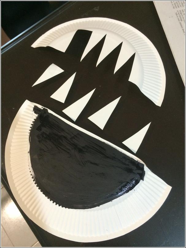 paper plate shark craft for kids 2