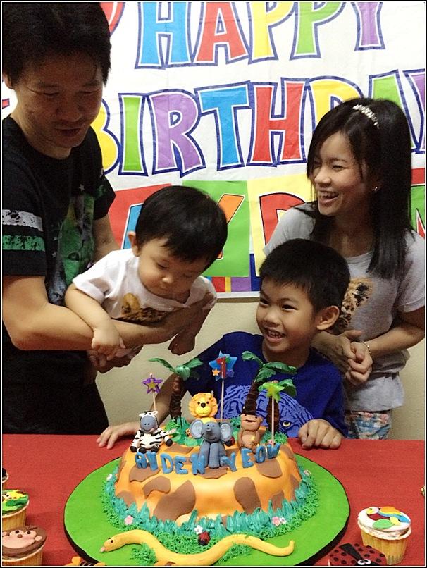 Animal theme birthday cake