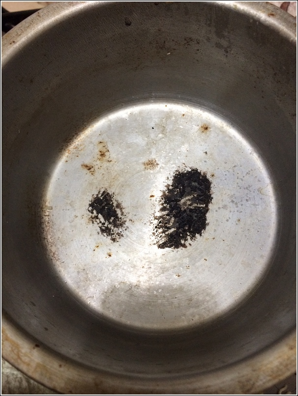 burnt pot