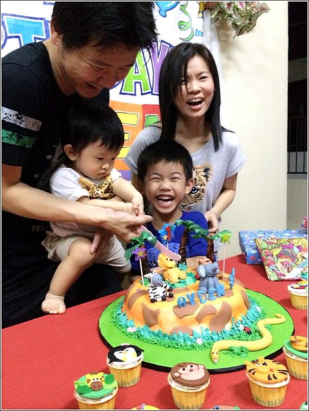 jungle theme birthday cake
