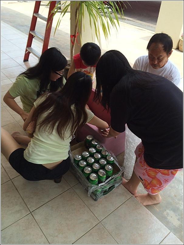 preparing for birthday party