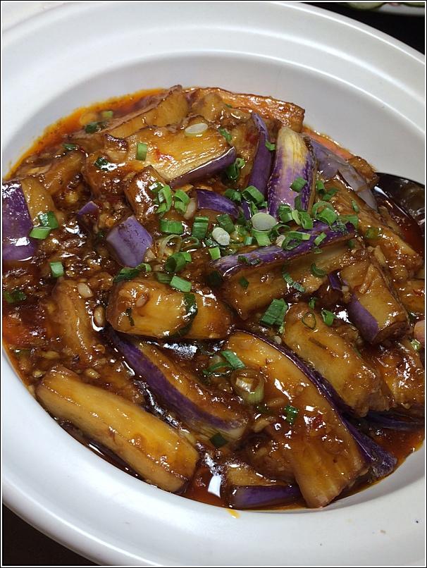 braised eggplant with garlic and chili sauce