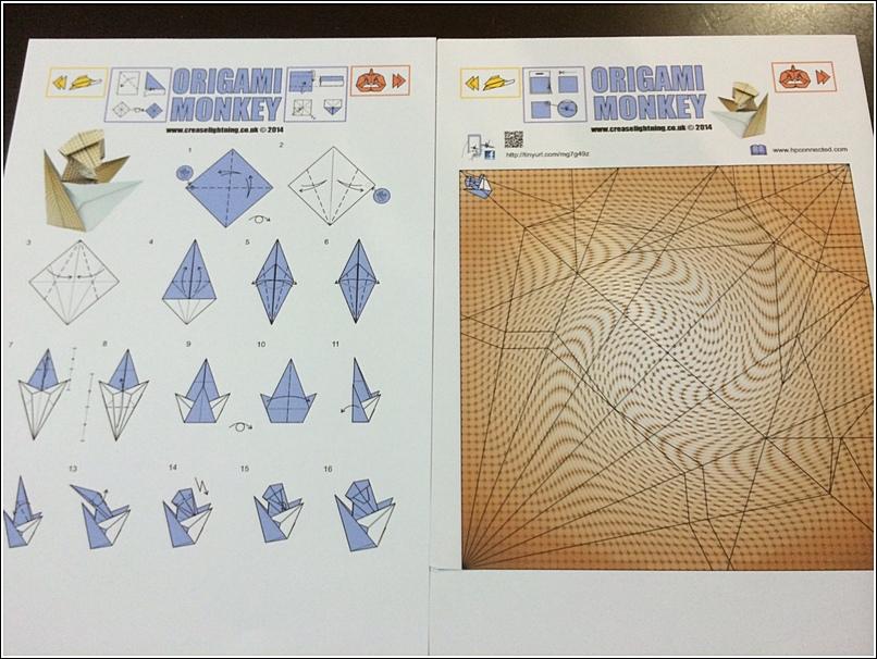 Origami monkey printout