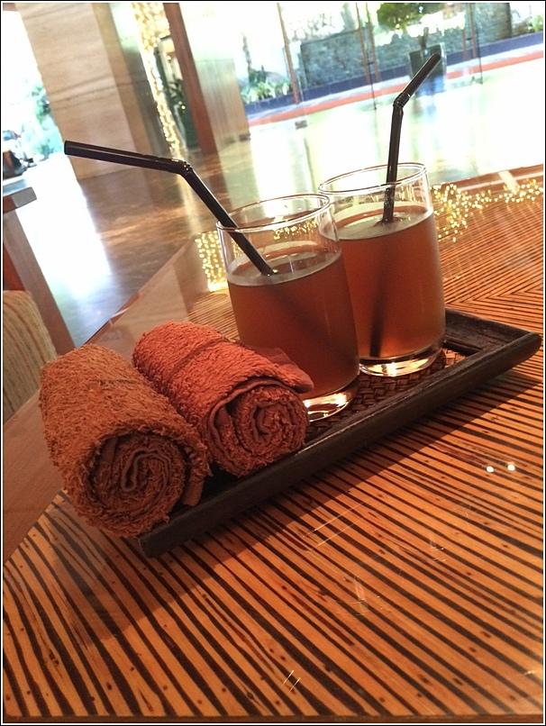 Rasa Sayang Shangri La Penang welcome drink nutmeg juice