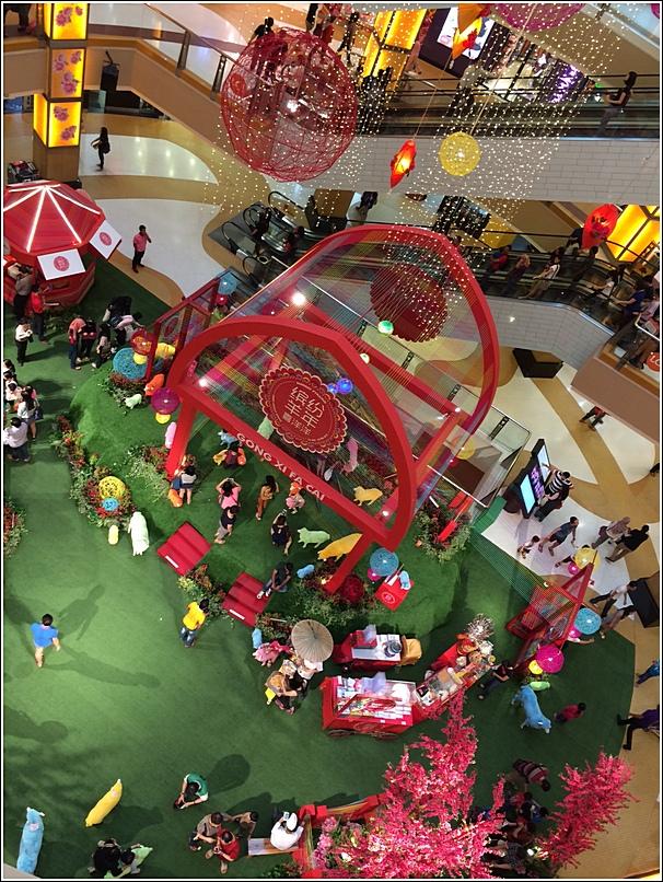 Sunway Pyramid CNY mall decoration 2015