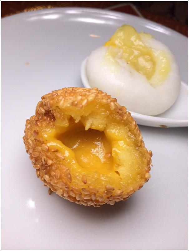 Crispy Deep Fried Sesame Balls with Salted Egg Yolk Custard Prince Hotel