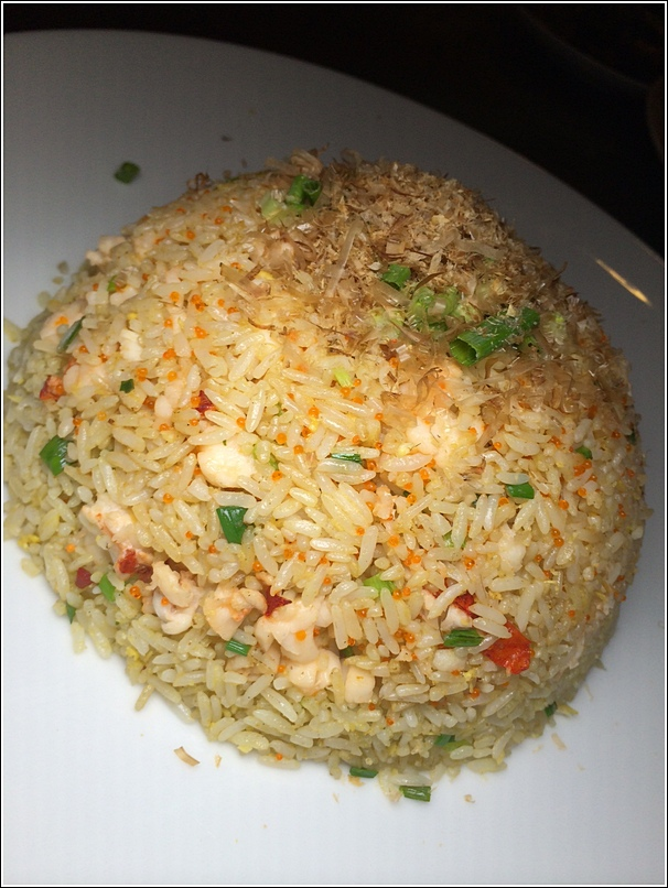 Wok-Fried Rice with Diced Lobster, Tobiko and Bonito Flakes