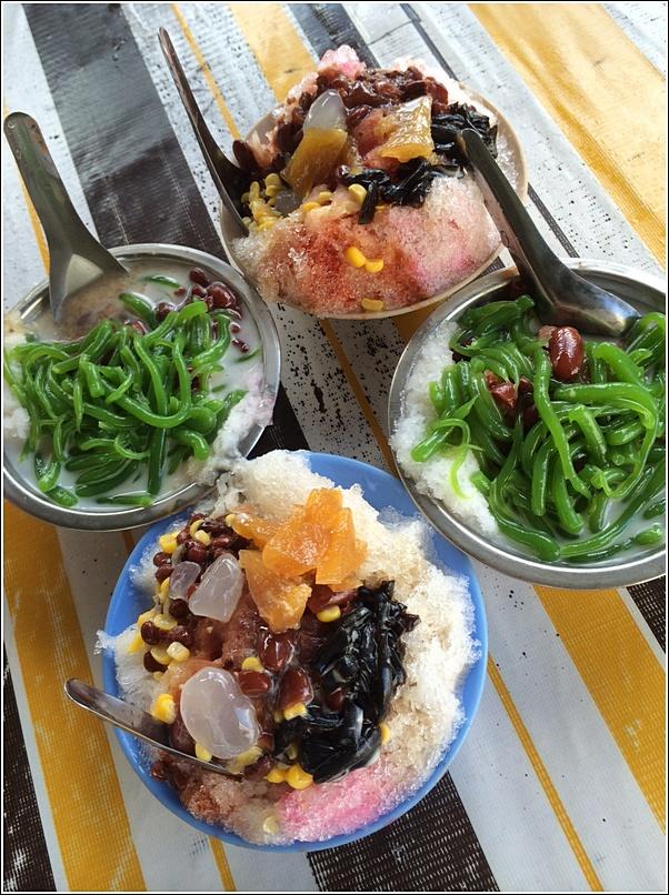penang ice kacang and cendol