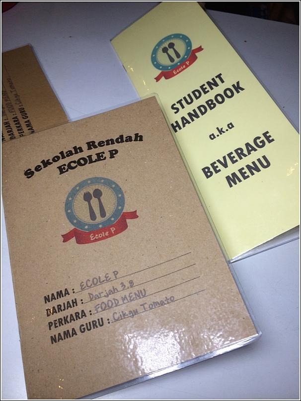 Ecole P menu
