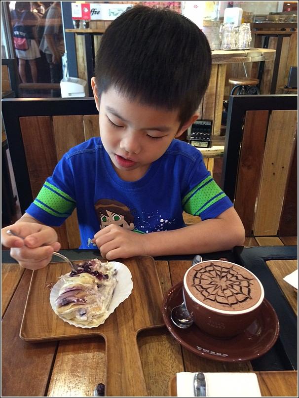 Ethan at Caffe Crema