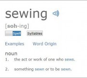 sewing pronunciation