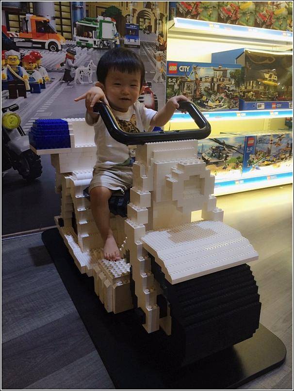 Lego petrol bike