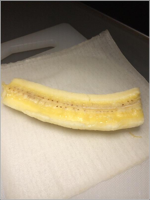 Rice cooker baked banana popiah