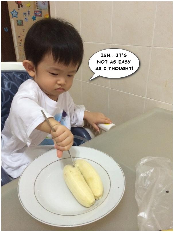Rice cooker cake steamed banana cake mashed banana1