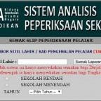 Sistem Analisis Peperiksaan Sekolah website