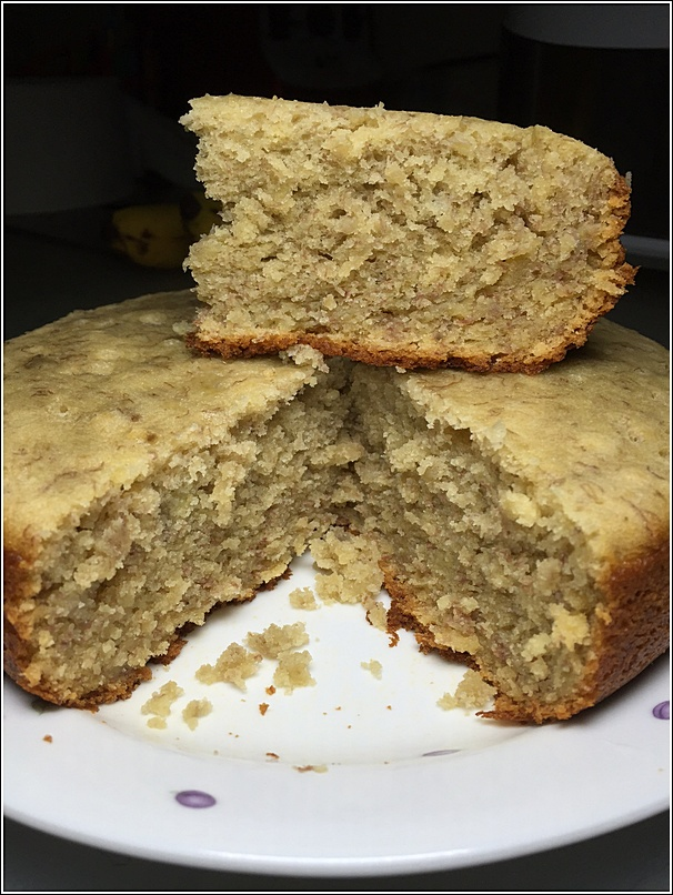 Super moist rice cooker banana cake