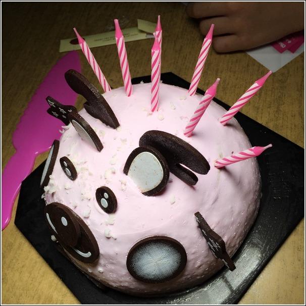 Baskin Robbins reindeer icecream cake