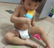 Refreshing homemade orang frozen popsicle