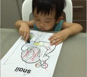 Ayden coloring time