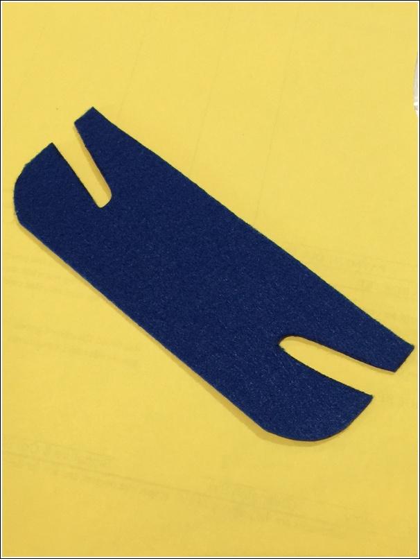 Blue felt for minion