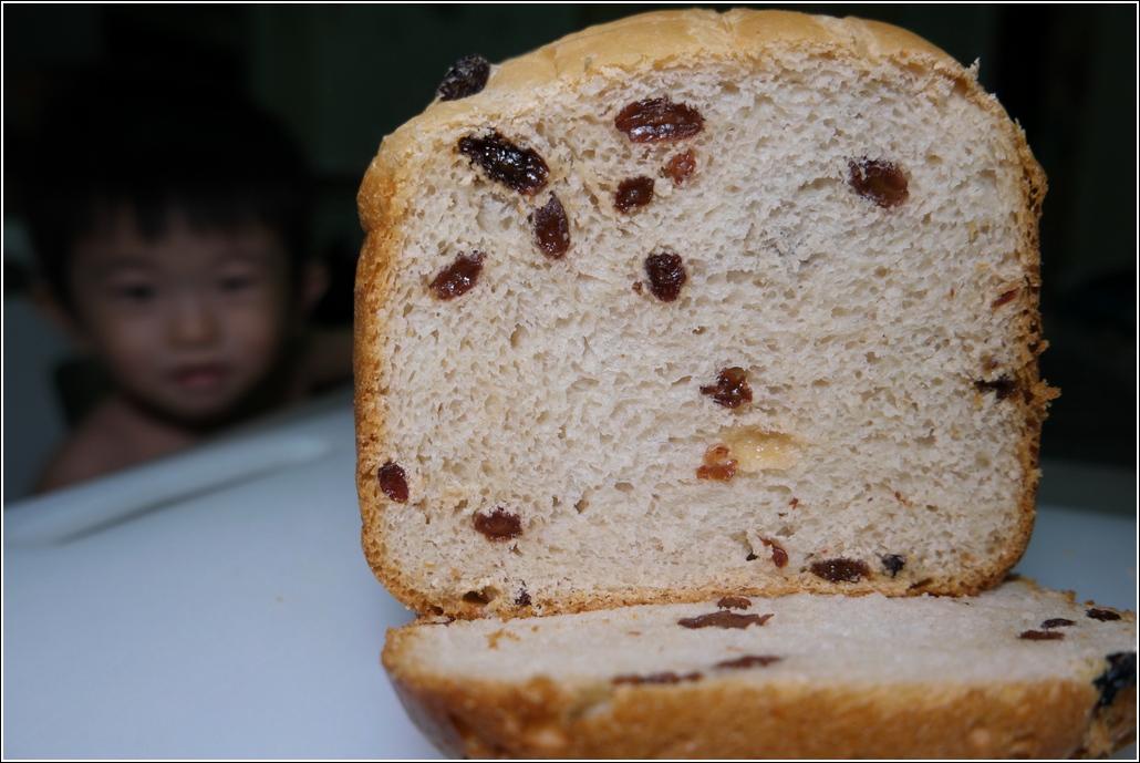 Raisin milk loaf