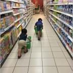 Bringing boys shopping
