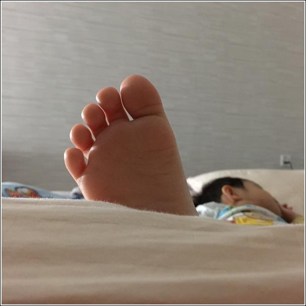 Happy feet sleeping