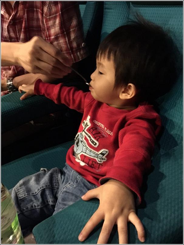 ayden eating in cinema