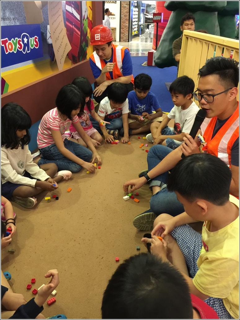 LEGO building activity