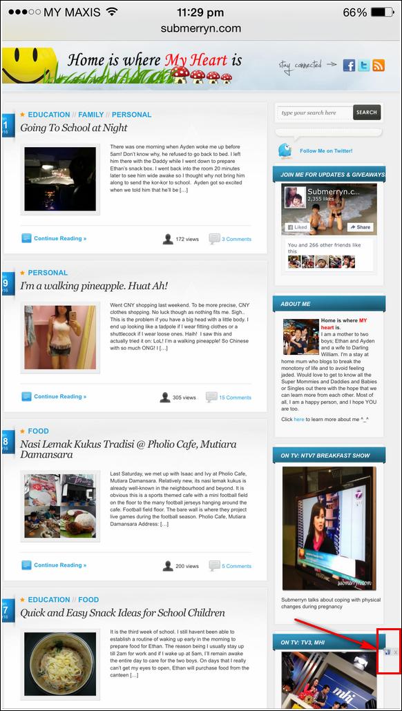 nuffnang mobile ad on blog