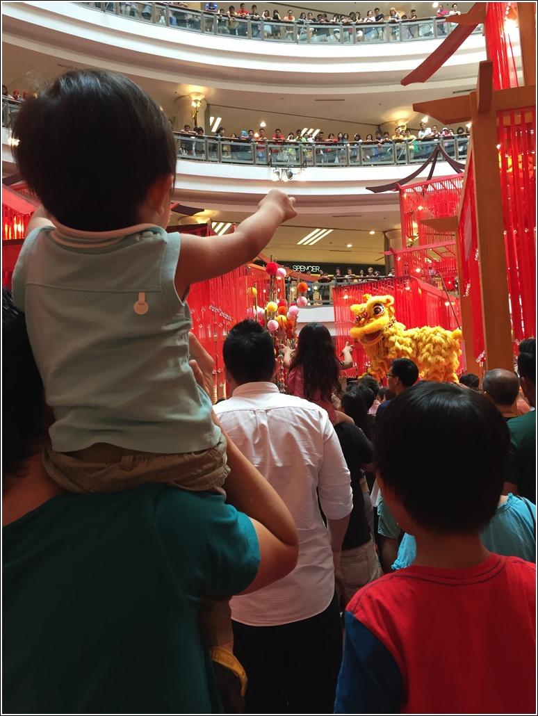 CNY Lion Dance performance