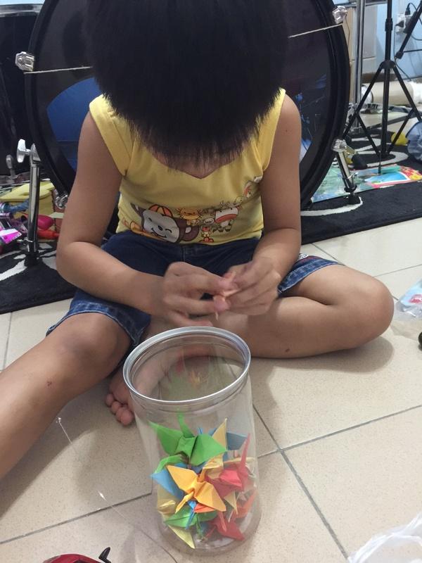 origami crane for hope